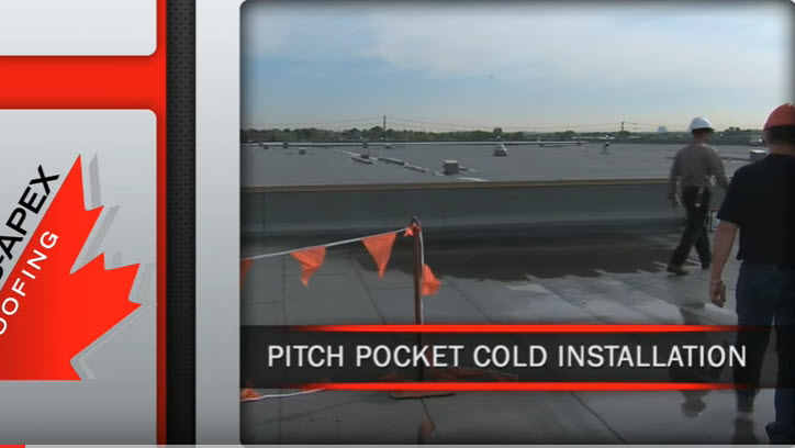 Atlas Apex Roofing Pitch Pocket Cold Installation Video